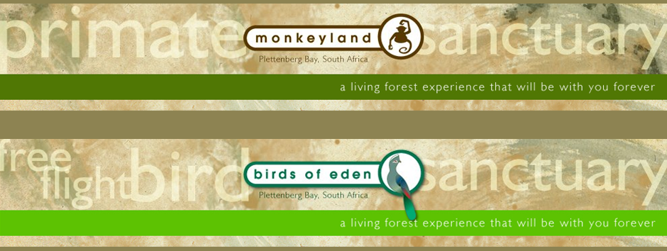 Monkeyland and Birds of Eden in Plettenberg Bay